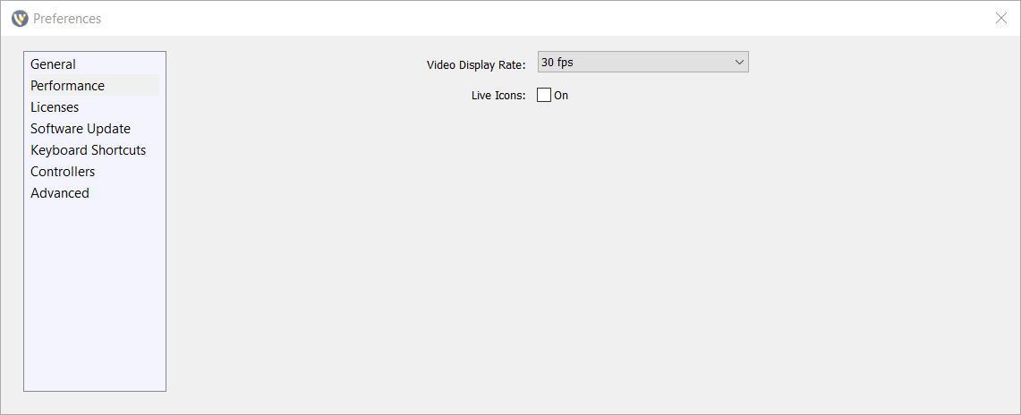 Set frame rate in Wirecast