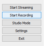 Start Recording in OBS
