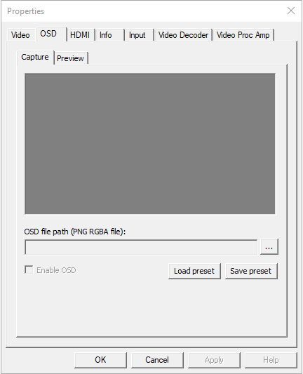 Enable OSD in the driver panel