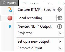 Start recording in XSplit