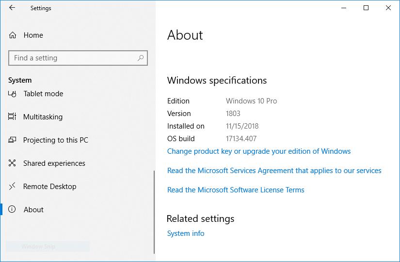 View the Windows version