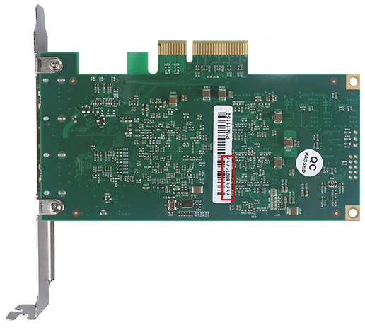 Example of capture card's serial number